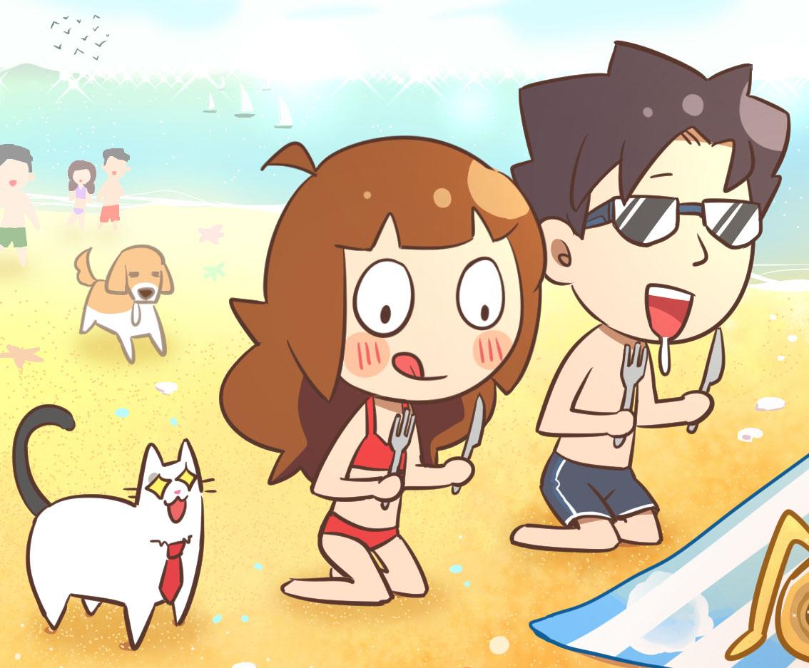 海邊走走蛋捲綜合口味海邊日光浴